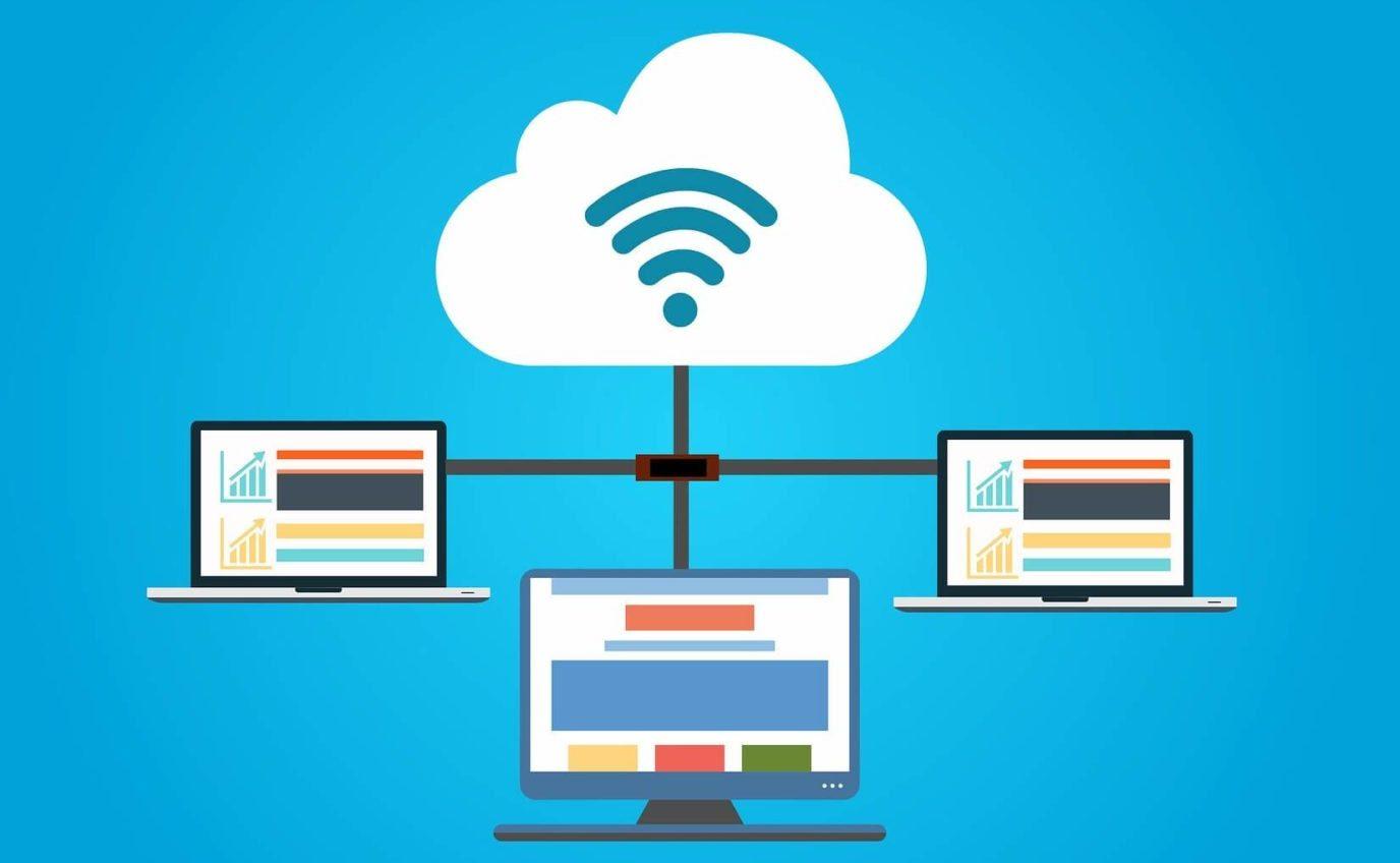 איור המדמה כיצד שירות ענן עובד